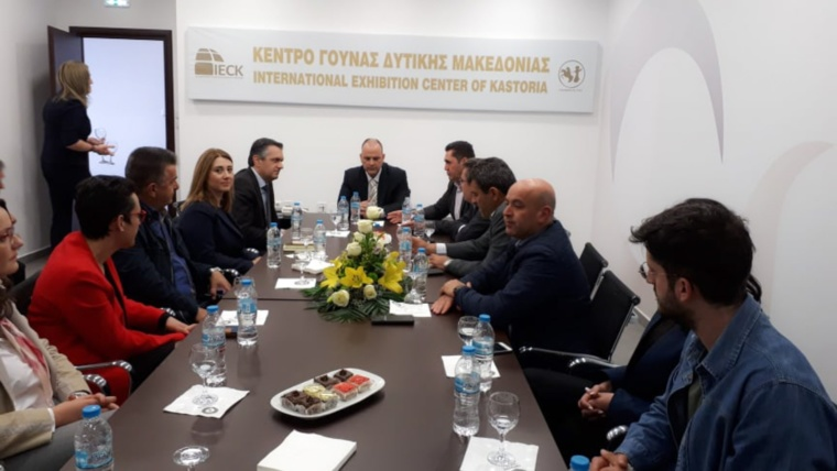 Την 44η Διεθνή Έκθεση Γούνας Καστοριάς επισκέφθηκε ο υποψήφιος Περιφερειάρχης Δυτικής Μακεδονίας Γιώργος Κασαπίδης